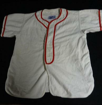 "Awesome Vintage Kid's Baseball Uniform ""Moore Plumbers"" NICE"