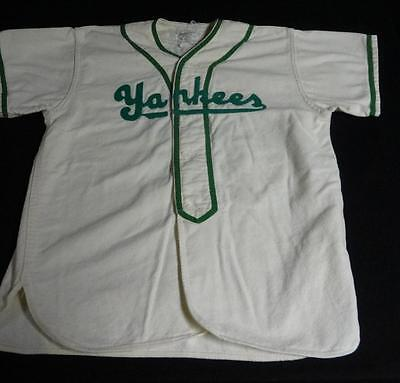 "Rare Vintage ""Yankees"" Youth Flannel Baseball Uniform Very COOL!"