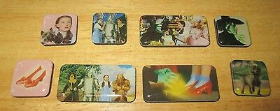 Ata-Boy Wizard Of Oz Movie 8-Piece Color Small Magnet Set, 1995 Turner, Exc.cond