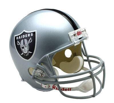 Riddell NFL Oakland Raiders Full Size Replica VSR4 American Football Helmet