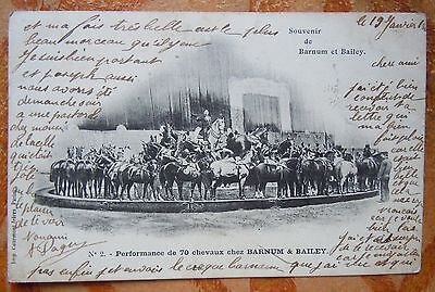 Cpa Cirque Barnum & Bailey - Performance De 70 Chevaux - 1903
