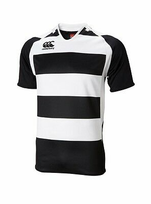 Canterbury Junior Hooped Challenge Jersey Black/ White Large 10 Years Old