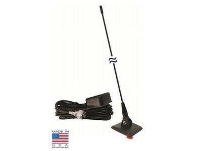 PROCOMM CBG22 ON GLASS MOUNT MOBILE CB RADIO ANTENNA w/ 14FT RG58 COAX CABLE