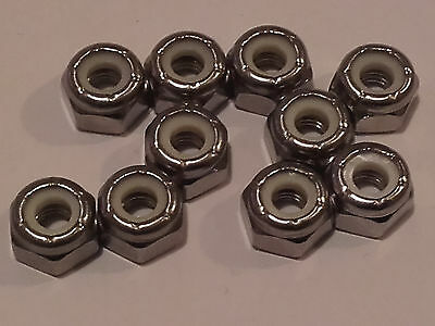 3/16 (10-32) UNF A2 STAINLESS STEEL NYLOC  NUT x 10