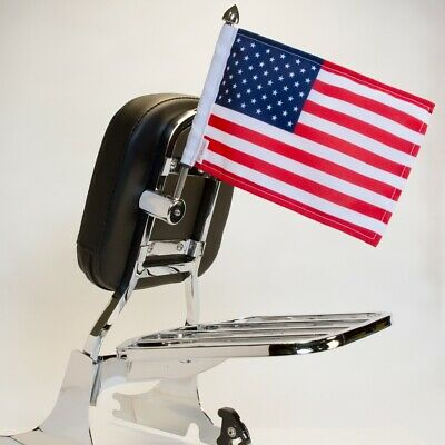 "Pro Pad Sissy Bar Square Mount With 6""x9"" USA Flag"