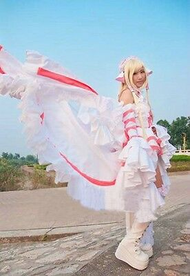 Chobits Chii Cosplay costume white Orange Lolita