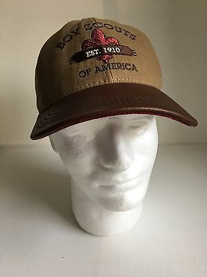 1999 Boy Scouts Of America BSA Limited Edition Leather Brim Hat Cap