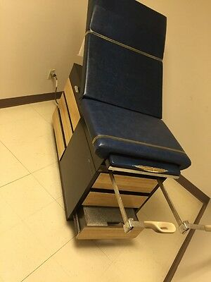 IE MEDICAL 104 Exam Table Adjustable Flexible w/Stirrups & Drawers Unit 2