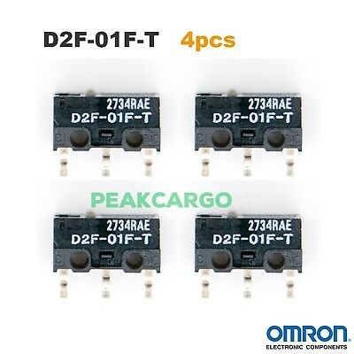 Qty 2 OMRON D2F-01F-T Micro Switch Microswitch for RAZER Logitech APPLE Mouse