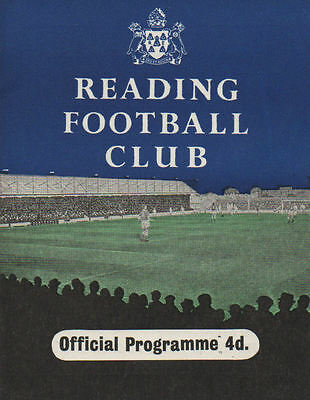 Reading v Arsenal 1/12/1958 Friendly