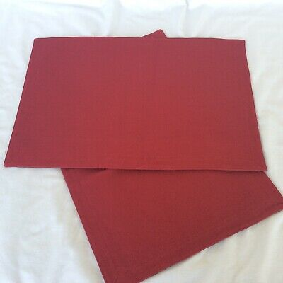 2 Placemats PAPRIKA Red Longaberger new in bag