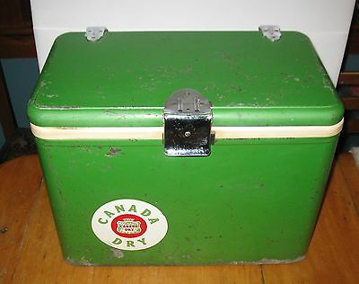 Extremely Rare and Vintage Canada Dry Soda Cooler 1950's / 60's  FREE SHIPPING
