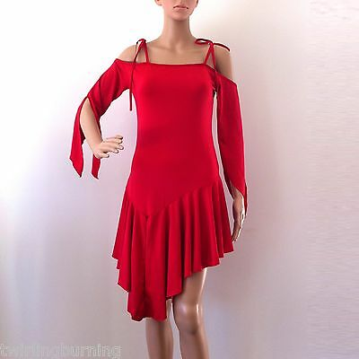 Latin Dance Stretchy Dress with Shorts Salsa Rumba Tango Dancing Costume DD05
