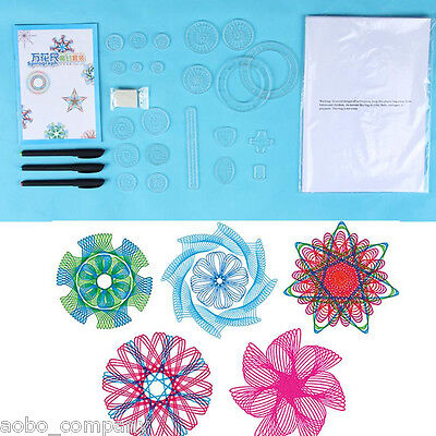 1Set Spirograph Geometric Ruler Drafting Tools Early Learning Toy Drawing Ruler