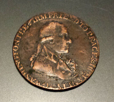 1795 Half Cent Washington Coin, Not Graded, Old, Beautiful, and Obsolete (106)