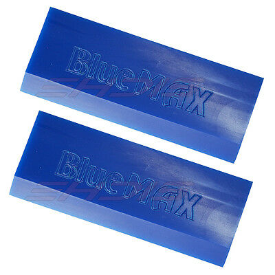2PCS BlueMAX Rubber Blade Squeegee Window Film Tint Installation Tools