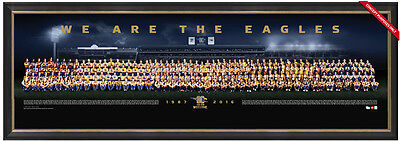 West Coast Eagles 30 Year Anniversary Limited Edition Team Print Framed Worsfold