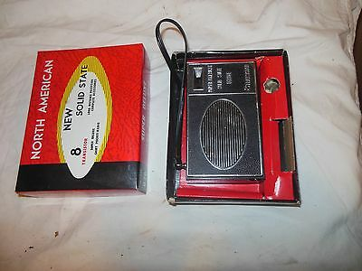 Mib Vintage North American 8 Transistor Solid State Model 876 Pocket Radio Super
