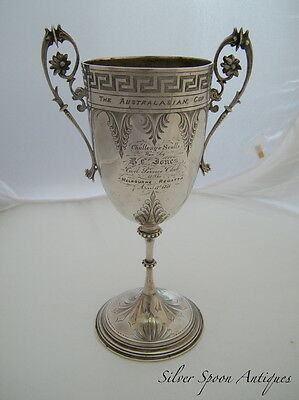 Colonial Australian Sterling Silver Trophy Cup, EDWARDS, Melbourne, 1870s