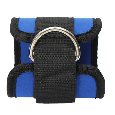 2pcs Gym Ankle/Foot Strap Cable Machine D-Ring Pulley Cable Attachment Blue