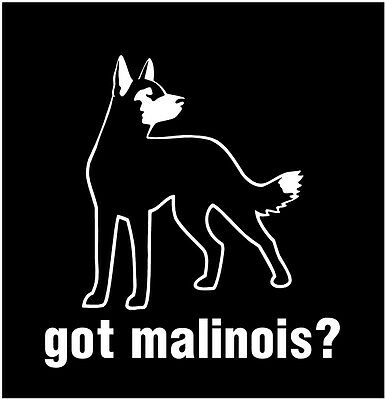 GOT MALINOIS ? High Quality Window Vinyl Dog Decal (Any color)