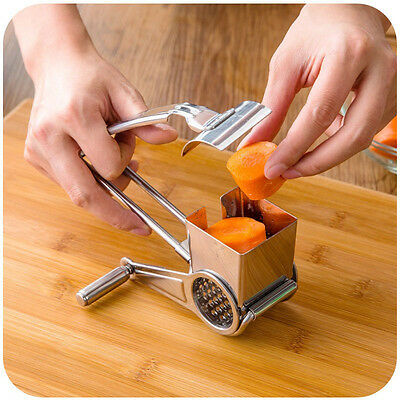 Newest Kitchen Stainless Steel Craft Rotary Cheese Grater Chocolate Lemon Slicer
