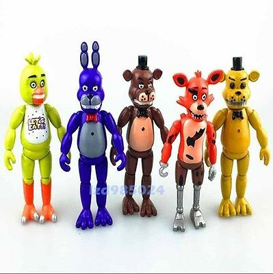 "NEW 5PCS A Set Fnaf Five Nights at Freddy's 6"" Action Figures With Light Toys"