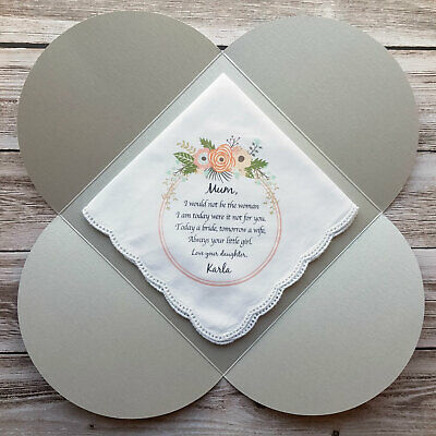 1 x Mother of the Bride Printed Wedding Handkerchief, includes gift envelope
