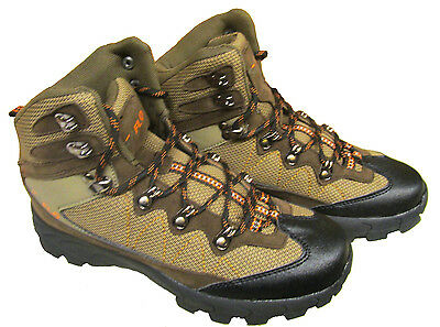 HIKING - WALKING BOOTS waterproof camping trail shoes KHAKI/ORANGE - RED/GREY