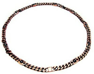 Brand New Magnetic Bio Therapy Copper Chain Dog Collar Maximum Length 46Cms