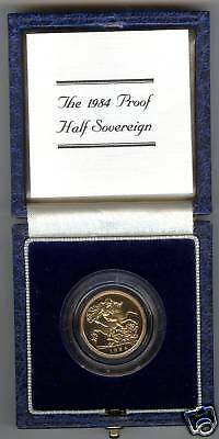 1984 Boxed Proof Gold Half Sovereign With Certificate