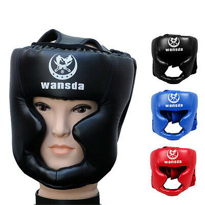 New Headgear Head Guard Training Kick Boxing Protector Sparring Gear Face Helmet