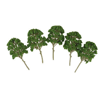 5x Green Model Trees Toy O HO 15cm Train Railway Scenery DIY 1:50-1:75 Scale