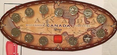 1999 Canada Millennium  Coin Set Royal Canadian Mint