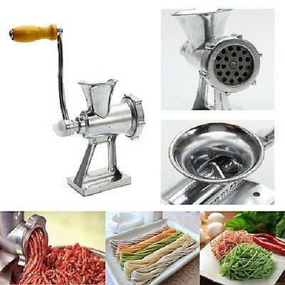 New Meat Mincer Grinder Manual Hand Operated Kitchen Beef Sausage Maker