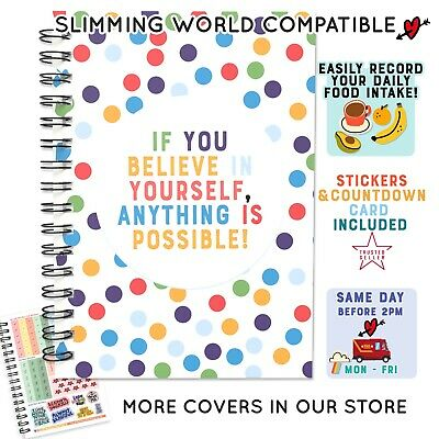 Diet Diary Food Diary Slimming World Compatible Journal Co /2 Book Planner Logs