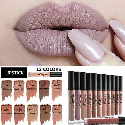 Popular Waterproof NYX Lipstick Lingerie Matte Long-Lasting Liquid Lip Gloss!
