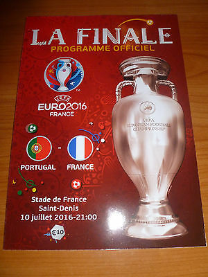 official programme FINAL France - Portugal Euro 2016 , franz. edition