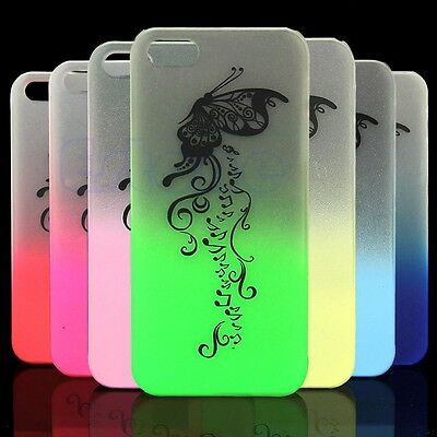 Glow In The Dark Case Cover for i Phone 5 5S Color Red