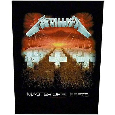 Official Licensed - Metallica - Master Of Puppets Back Patch Hetfield Metal