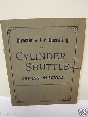 vintage Cylinder Shuttle Instructions 1915