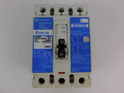 Cutler Hammer 3-Pole, 50 Amp, 480V Circuit Breaker EHD3050 - NEW Surplus!
