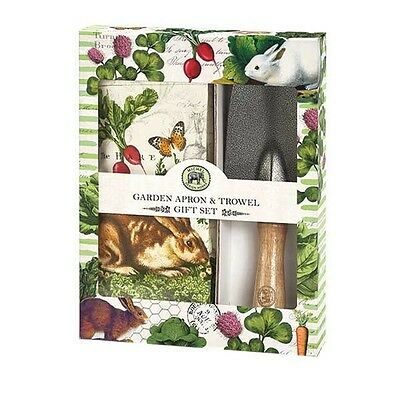 Michel Design Works 'Garden Bunny' Outdoor Apron with Pockets & Tool in Gift Box