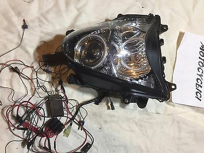 08-16 Hayabusa GSX1300R HEADLIGHT WITH CCFL HALO KIT XKGLOW Nose front R