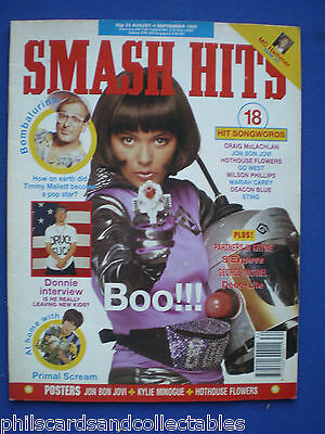 Smash Hits - 22nd Aug 1990 - Betty Boo, Primal Scream, Donnie Wahlberg