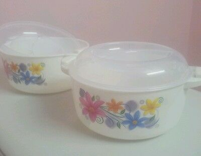 Microwave Safe Food Containers Set of 2 Re-heat, Microwaveable Cook n' Serve