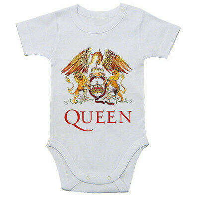Qween  Baby White Rock Band Bodysuit