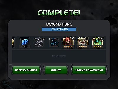 MCoC Marvel Contest Of Champions Realm Of Legends Completion