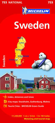 Sweden National Map - New - Michelin 753 - 2016 Edition