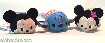 DISNEY STORE Hawaii Exclusive Tsum Tsum Mickey Minnie Stitch NWT